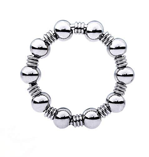 Edelstahl Hohe Qualität Intimer Schmuck Penis Ring, Verzögerung Ejakulation Hodenring Metall Perlen Cock Ring Und Erotik Eichelring