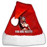 Mznk6428adnx Unisex Bloodsport Movie Chun Li Quote Christmas Hat Medium