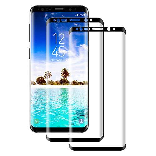 Aspiree 2 Stück Panzerglas Schutzfolie kompatibel mit Samsung Galaxy S8, Gehärtetes Glas Bildschirmschutzfolie mit 9H Festigkeit, 3D Vollständige Abdeckung HD Ultra Klar, Bildschirmschutz Folie für S8