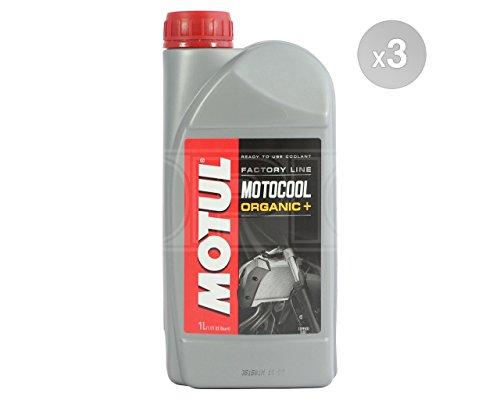 Motul Motocool Bio + ligne de course Moto liquide de refroidissement/antigel–Prêt à l'emploi–3x 1litres