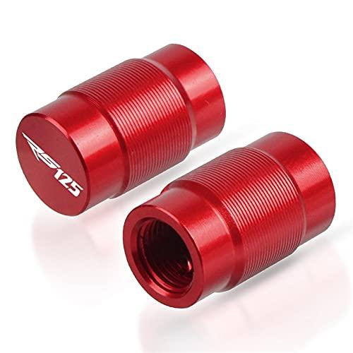 Tapa de llenado de aceite Accesorios de motocicleta Tapas de válvula de neumático de aluminio para Aprilia RS125 RS 125 1999-2005 2000 2001 2002 2003 2004 (color: rojo)
