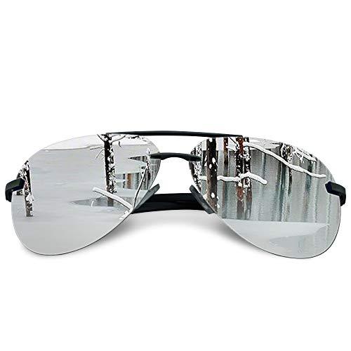 JODELA Aviator Polarized Sunglasses for Men, Oversized Mirror Men's Sunglasses