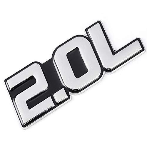 ACEACE 3D-Metall-Auto-Aufkleber 2.0L 2.2L 2.3L 2.4L 2.5L 2.8L 3.0L 3.5L Logo-Emblem-Abzeichen-Abziehbilder (Color Name : for 2.0L Sticker)