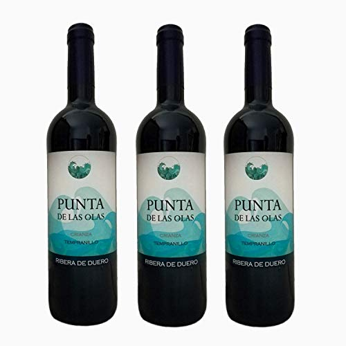 PUNTA DE LAS OLAS Vino tinto Crianza 2015 Ribera del Duero 100% Tempranillo Caja de 3 botellas X 75 cl