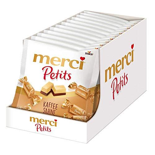 merci Petits Feine Pralinen aus edler weißer und Kaffee-Sahne Schokolade - kleines Dankeschön für jedermann, 1500 g