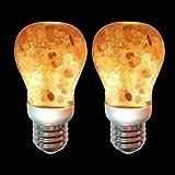 Himalayan Glow Salt Light Bulb 60-Watt Equivalent, Warm Amber Glow, Dimmable, 2 Pack, 2 Count