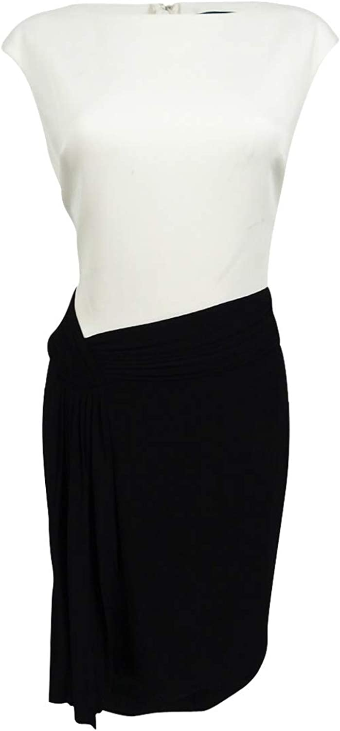 American Living Womens colorblocked Sheath Dress Ccblk 16