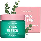 I DEW CARE Yoga Kitten   Balancing Kaolin Clay Face Mask for Blemish-prone Skin with Heartleaf and Tea Tree Extract   Korean Skincare, Facial Treatment, Vegan, Cruelty-free, Paraben-free