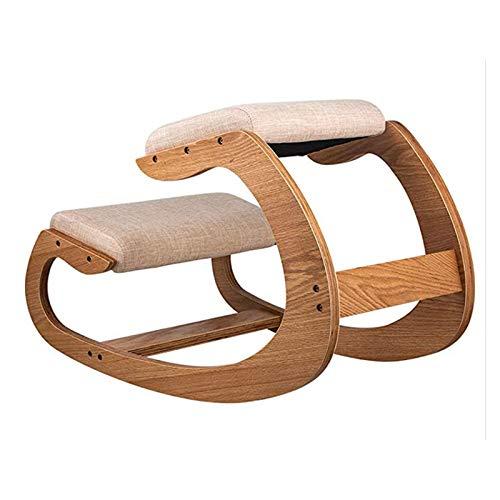 Kneeling Chair - Ergonomic Kneeling Chair Wooden Knee Stool, 330LB Load Capacity Kneeling Posture Desk Chair Stool, Posture Correcting for Bad Backs, Neck Pain Relieving