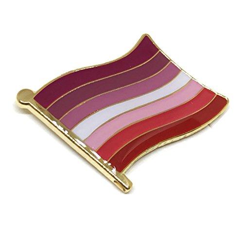 Gay & Lesbian Pride Rainbow LGBT LGBTQ Flag Lapel Pins (Lesbian Pride Flag)