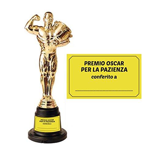 ZeusParty Statuetta Premio per la Pazienza Personalizzabile da 30 cm