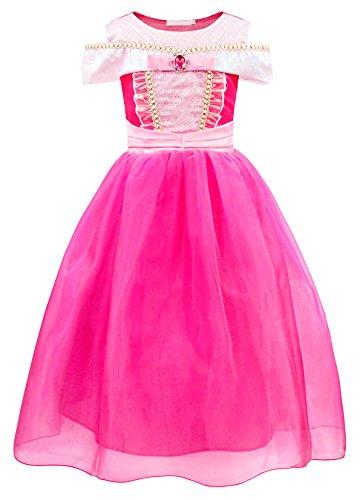 AmzBarley Disfraz Princesa Vestido Niña Disfraces Traje Bella Durmiente Fiesta Cumpleaños Regalo Halloween Carnaval Nniños Muchachas Cosplay