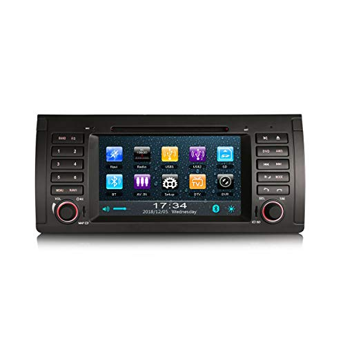 ERISIN Autoradio für BMW 5ER E39 E53 X5 M5 GPS Navigation CD DVB-T2 Bluetooth RDS USB