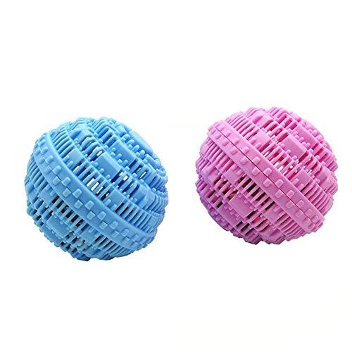 SSWJT 2 stuks wasballen voor de wasmachine, herbruikbare wasballen, allergievriendelijk, wasbaar, ontsmetting, anti-wikkeling, ideaal voor verzorging, milieuvriendelijk, tijd en kostenbesparend