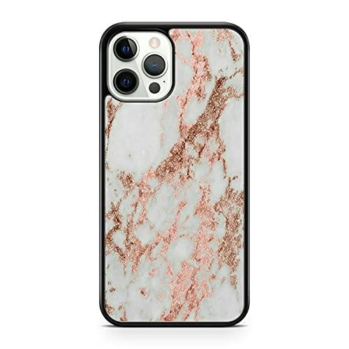 Elegante funda para teléfono con diseño de piedra de mármol de color blanco opaco rosa dorado (modelo de teléfono: compatible con Samsung Galaxy S7 Edge)
