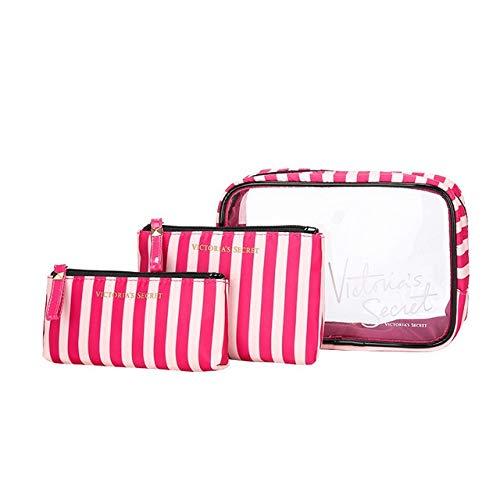 Style de Portable PVC Marque Sac étanche cosmétiques Voyage de PORTIER Trousse de Toilette Mode Transparent (Color : Gray)