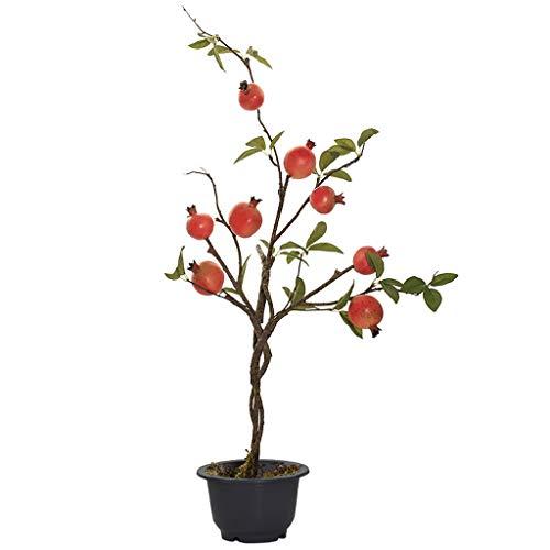 """Planta 31"""" 80cm Artificial Árbol de Granada Casi Falso Natural Simulación Fruta de la Granada Pot Adornos Decoración Planta de Interior Verde de los bonsais"""