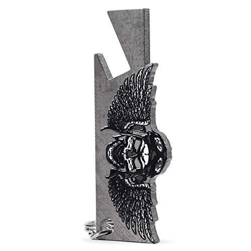 KADAX Abrebotellas de acero, diseño de cráneo, abridor de acero, abridor de plástico, apertura de rosca para fiestas, hogar, cerveza, abridor de una mano (cabeza, colgante).