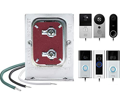 Doorbell Transformer, 16V, 30VA Comptible with Ring Pro,Nest hello