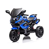 MYDENIMSKY Kids Ride on Motorcycle,12V Battery Powered 3 Wheels Motorcycle Toy for Kids,Electric Trike Motorcycle for Boys and Girls,w/ Music Horn Headlights,Blue