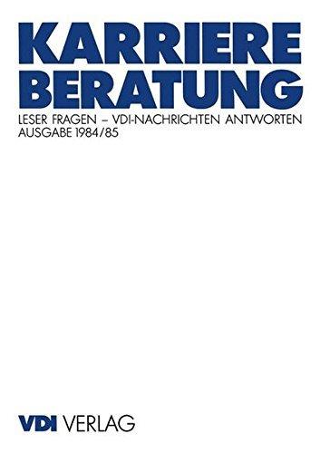 Karriereberatung: Leser Fragen _ VDI-Nachrichten Antworten (VDI-Buch) by Heiko Mell (1995-10-19)