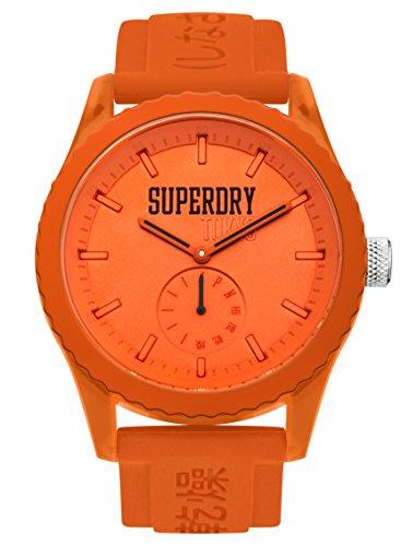 Superdry Reloj Analógico para Unisex Adultos de Cuarzo con Correa en Silicona SYG145OO