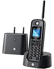 Motorola MOTOO201NO, Teléfono Fijo, DECT, 0, Talla única, Negro