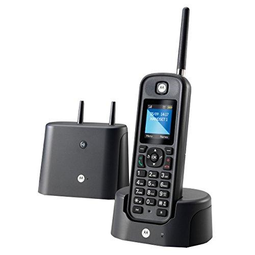 Motorola O201–Telefono fisso DECT, display a colori da 1,8 pollici, resistente all'acqua...