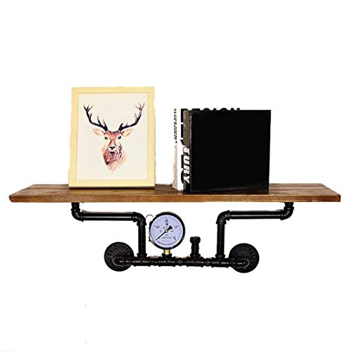 Plank G waterpijp massief houten woordplank retro industrieel stijl decoratief woordrek ijzeren frame aan de muur gemonteerde boekenplank