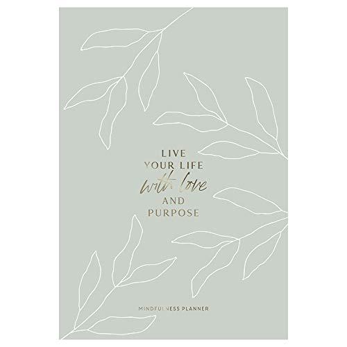 JO & JUDY Achtsamkeitsplaner - Mindfulness Planner mit Goldfolienprägung - 20,5 cm x 13 cm - 32 Seiten