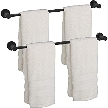 2-Pack Safety + Beauty 24 Inch Rust-Proof Stainless Steel Towel Bar