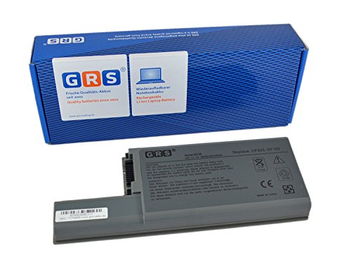GRS Batterie pour Dell Latitude D820 D830 D531 Precision M65 M4300 remplacé: DF192 CF623 YD62 451-10309 MM165 CF711 451-10326 DF230 XD736 310-9122 312-0393 Laptop Batterie 4400mAh, 11.1V