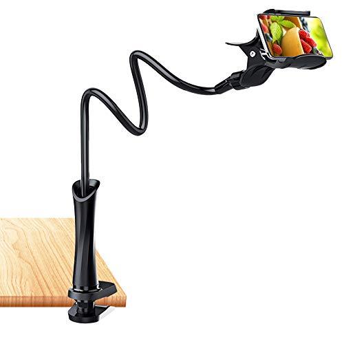 Handy Halterung Schwanenhals,SONVIEE Lazy Handy Halter Flexibler Smartphone Halter Bett Lang Arm Handyhalter Hand Universal Handy Ständer Phone Holder für 3,5-7 Zoll Smartphone