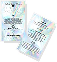 Professional Teeth Whitening Aftercare Instructions Cards   50 Pack   Size 2x3.5