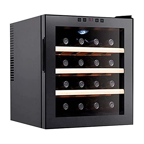 XTZJ Refrigerador de refrigerador de vino del compresor de 16 botellas   Gran bodega independiente   Frigorífico de vino de control de temperatura digital 41F-64F para rojo, blanco, champagne o vino e