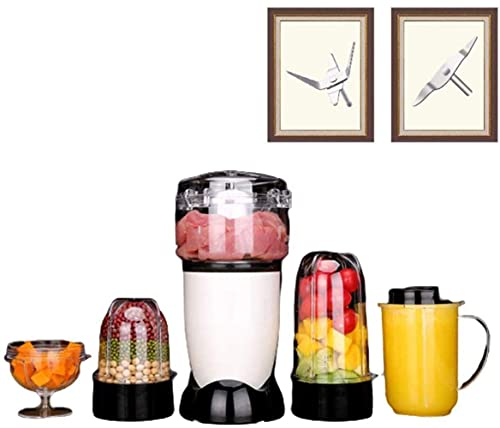 HYLK Blender And Food Processor, Power Grinder With Stainless Steel Blades Milkshake And Smoothie Ice, making smoothies, protein shakes and more,5 cups 5 knives