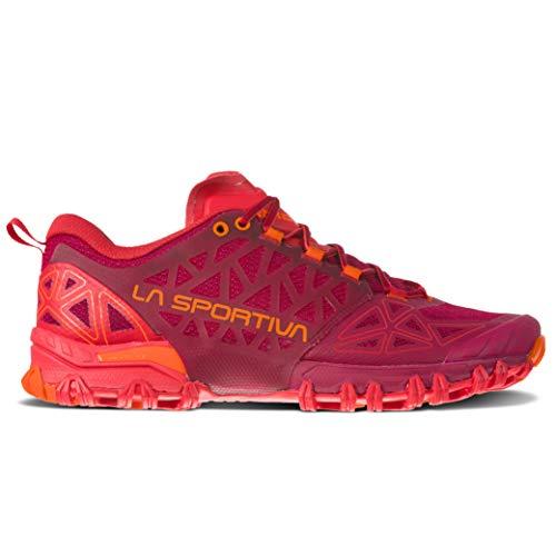 La Sportiva Women's Bushido II Trail Running Shoes, Beet/Garnet, 38.5