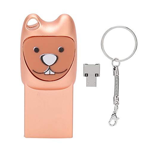 Unidad flash USB 2.0, unidad flash USB2.0 Cute Cartoon Memory Stick portátil con adaptador para Android Plug and Play, unidades de memoria portátil para archivos de copia de seguridad, videos(128G)