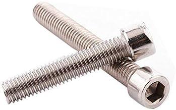 Do4U M6 x 25MM Socket Head Cap Screws, Allen Socket Drive, Din 912, Stainless Steel 304, Full Thread, Bright Finish, Machine Thread (M6x25,30pcs, Silver)