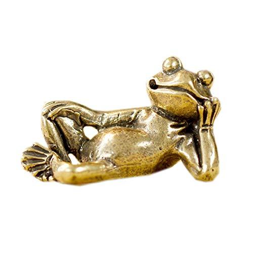 LBYLYH - Figura decorativa para el hogar, estatua de jardín, diseño retro de rana de latón