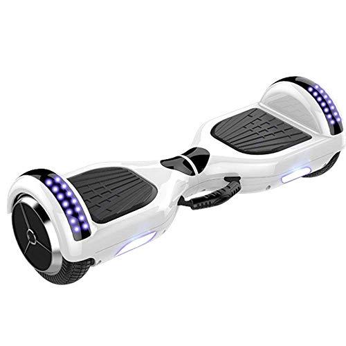 Hoverboard Elektro-Auswuchtmaschine mit Leucht Rad 6.5/8/11-Zoll-Erwachsene zweirädrigen Balance Board Kinder Schüler Kinder Gelände Sinn Auto Außen Reise Tool-11 Zoll [Klavier weiß] _Weitere