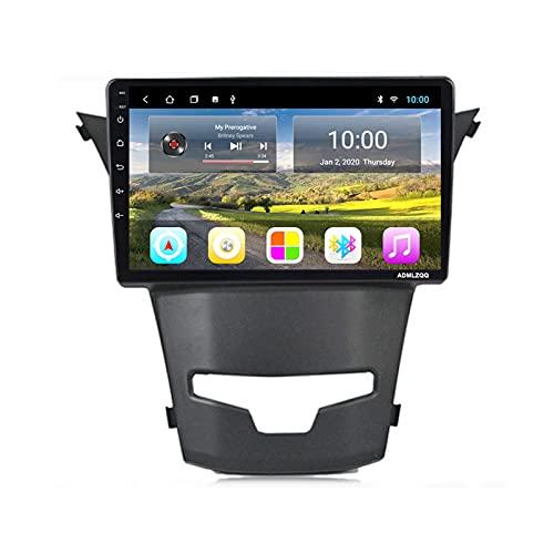 ADMLZQQ para SsangYong Actyon 2014 Radio Coche Estéreo Navegación Pantalla Táctil De 9 Pulgadas Android 9.0, FM/Bluetooth/Controles del Volante/Cámara De Visión Trasera,WiFi: 2+32g