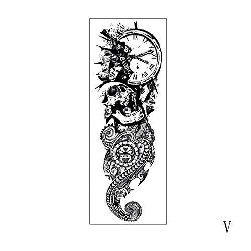 Handaxian 3pcs wasserdichte Tattoo Aufkleber Vogelaugen Uhr 3pcs Pagoda volle 5 Arm