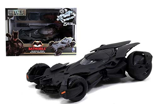 Jada Toys – Batman vs Superman Kit 2016 Batmobil, 97781BK, Schwarz, Maßstab 1:24