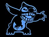 Stitch Cartoon Character Children Favorite Animation car Truck SUV Window Laptop Kids Room Kitchen Wall Decal Sticker 6'x5' (Light Blue)