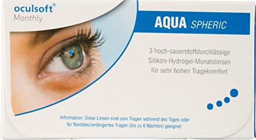 Oculsoft Monthly Aqua Spheric weich, 3 Stück / BC 8.6 mm / DIA 14.2