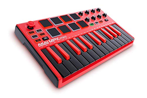 AKAI Professional MPK Mini MKII LE Red - Teclado portátil USB-MIDI de...