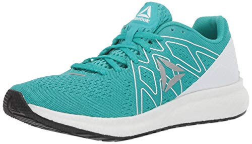 Reebok Women's Forever FLOATRIDE Energy, Solid Teal/White/Black/Silver, 7.5 M US