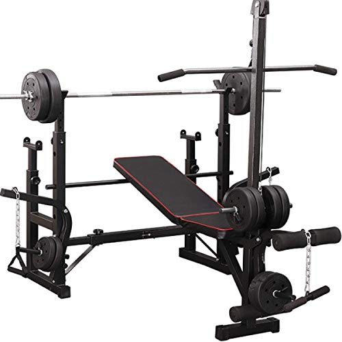 Weight Bench Set Multifunctional Bench Press with Squat Rack Adjustable for Home Men Women Bearing Weight 660LB
