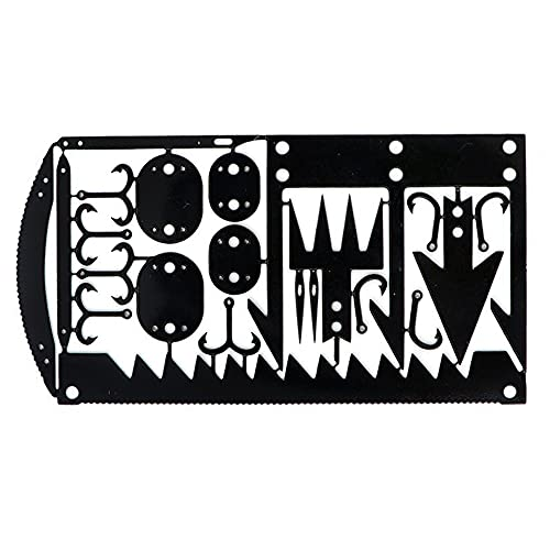 Survival MultiTool Card Sized:Bug Out Bag CampingTool: Best Multitool for Camping and Wilderness Survival Preppers Gear; Fishing Camping Hiking Hunting Emergency Kit